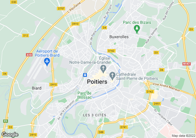Map for Secteur: Poitiers, Vienne