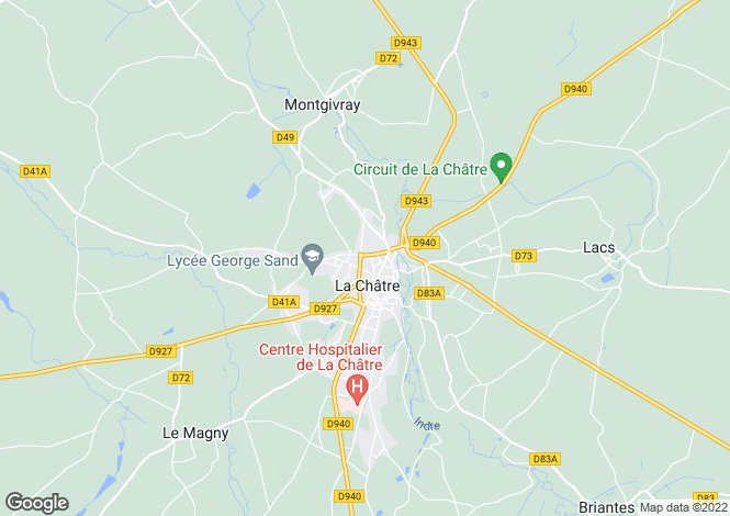 Map for la-chatre, Indre, France