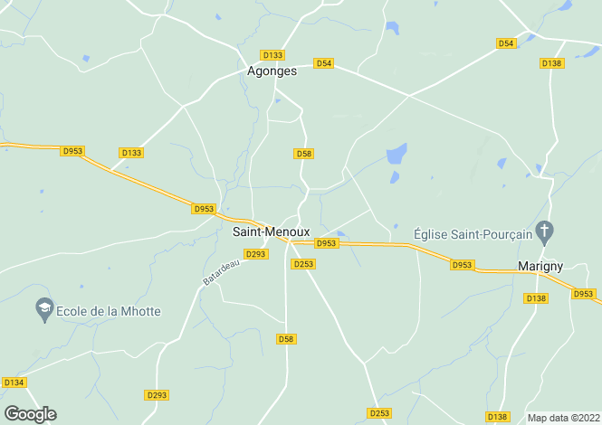 Map for st-menoux, Allier, France
