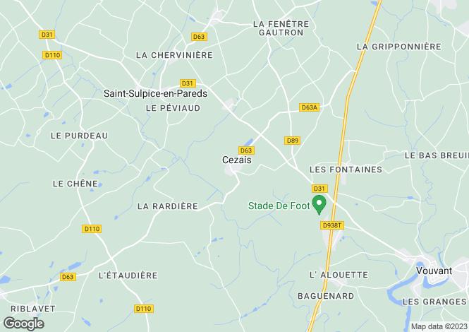 Map for la-chataigneraie, Vendée, France