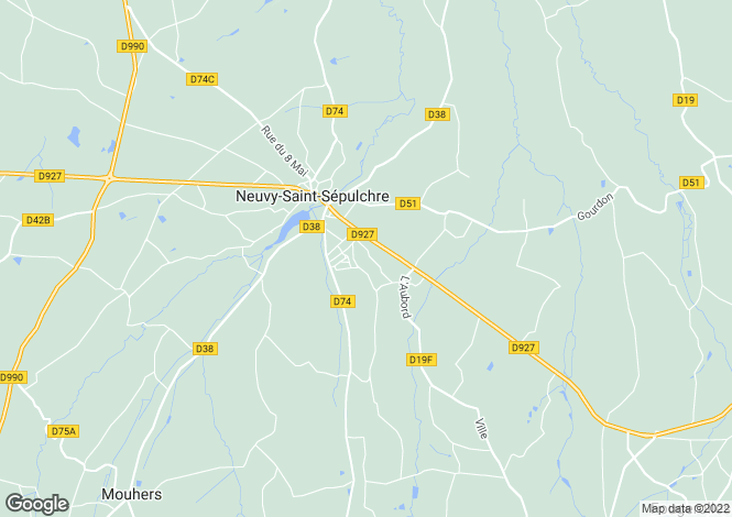 Map for Centre, Indre, Neuvy-St-Sépulchre