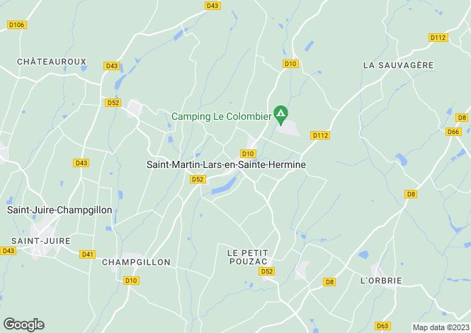 Map for st-martin-lars-en-ste-hermine, Vendée, France