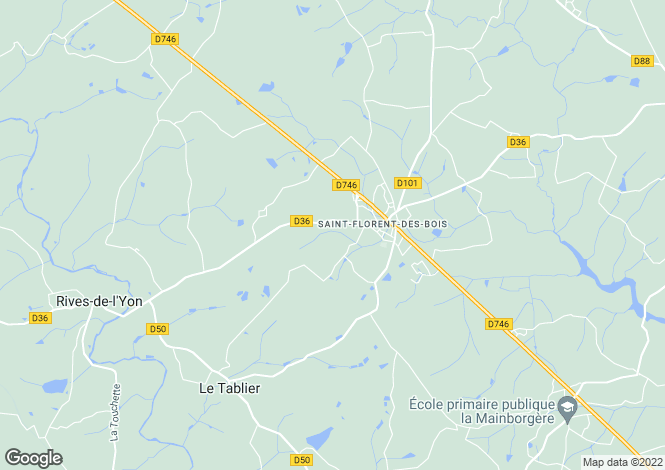 Map for st-florent-des-bois, Vendée, France