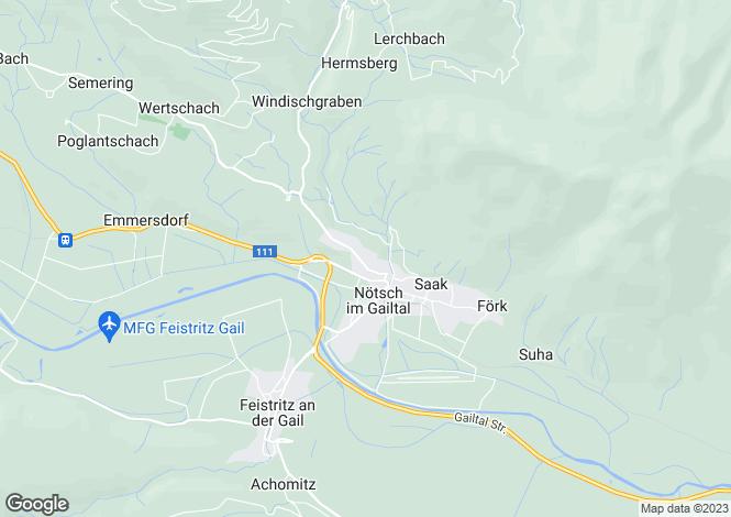Map for Nötsch im Gailtal, Villach-Land, Carinthia