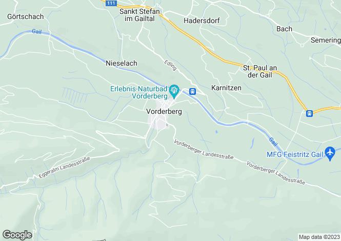 Map for Carinthia, Hermagor, St Stefan im Gailtal