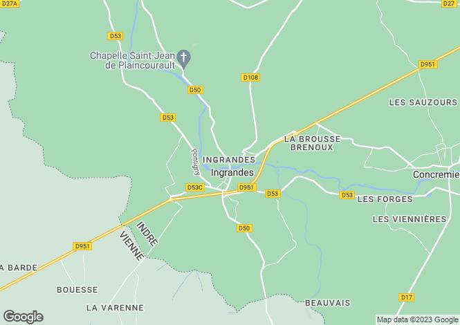 Map for Centre, Indre, Ingrandes