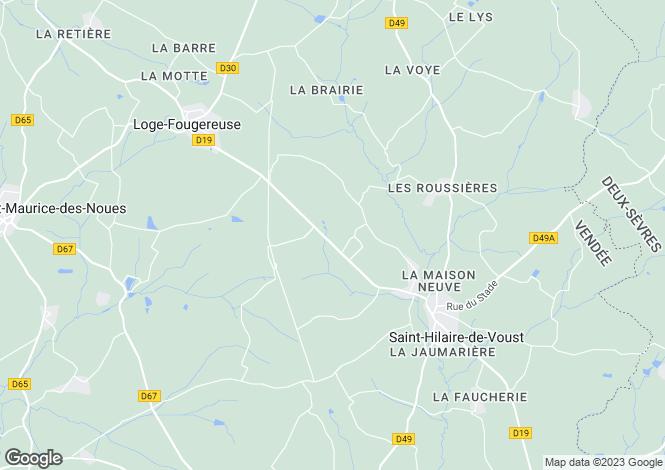 Map for Pays de la Loire, Vendée, St-Hilaire-de-Voust