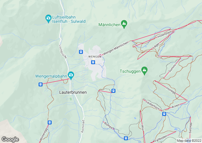 Map for Bern, Wengen