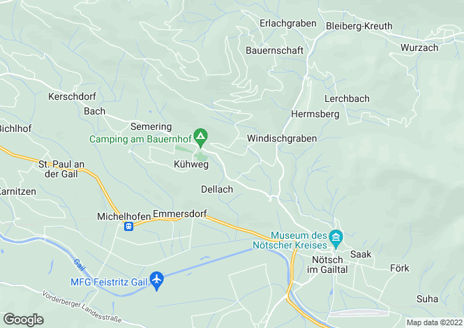Map for Carinthia, Villach-Land, Nötsch im Gailtal