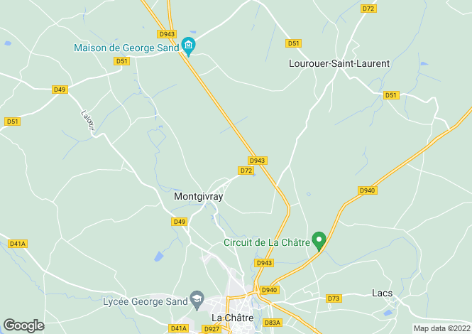 Map for montgivray, Indre, France