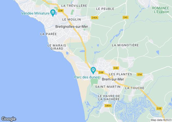 Map for brem-sur-mer, Vendée, France
