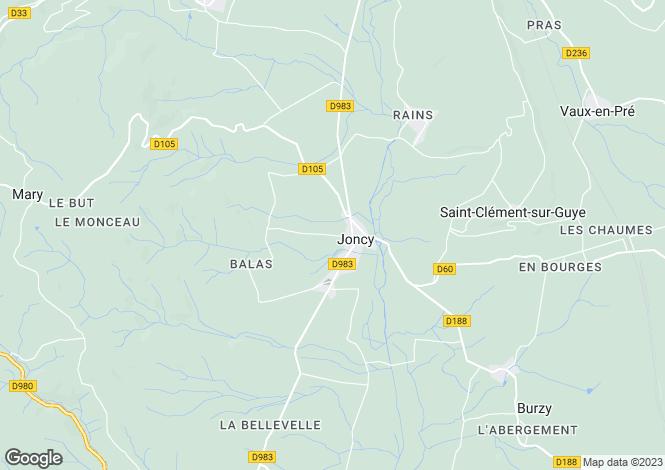 Map for JONCY, SAONE ET LOIRE