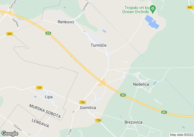Map for Turnisce, Lendava