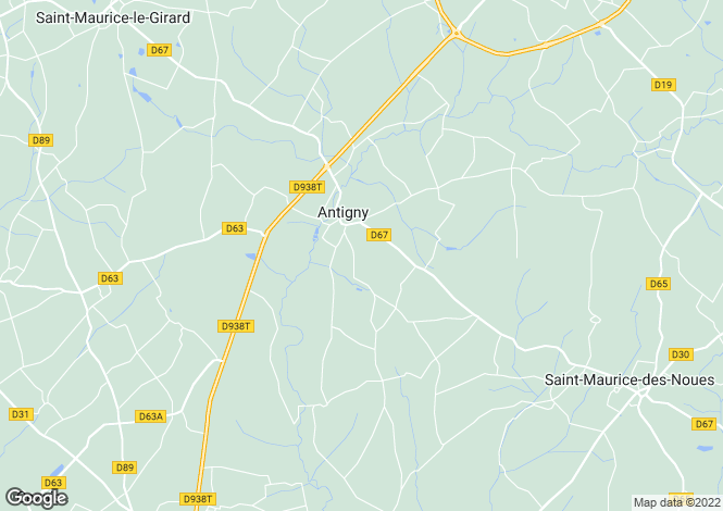 Map for Antigny, Vendée, Pays de la Loire
