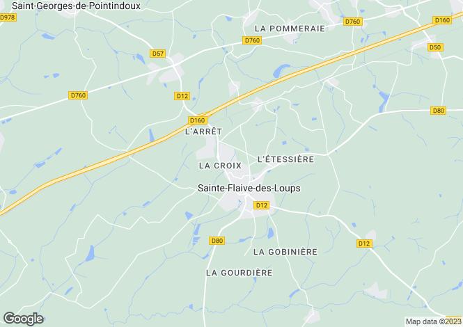 Map for ste-flaive-des-loups, Vendée, France