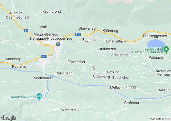Map for Hermagor, Hermagor, Carinthia