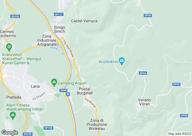 Map for Trentino-South Tyrol, Bozen, Postal