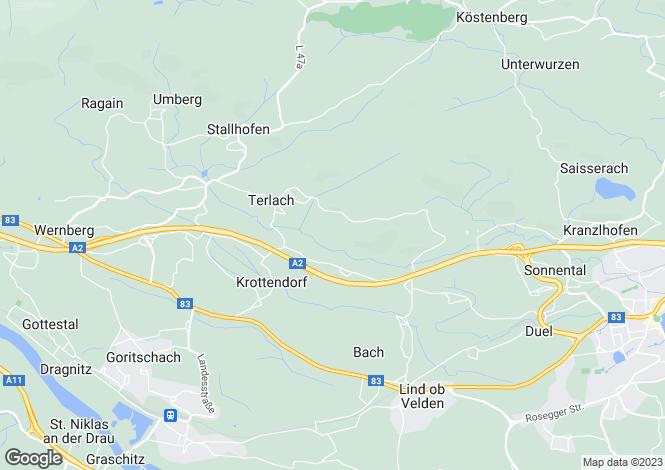 Map for Wernberg, Villach-Land, Carinthia