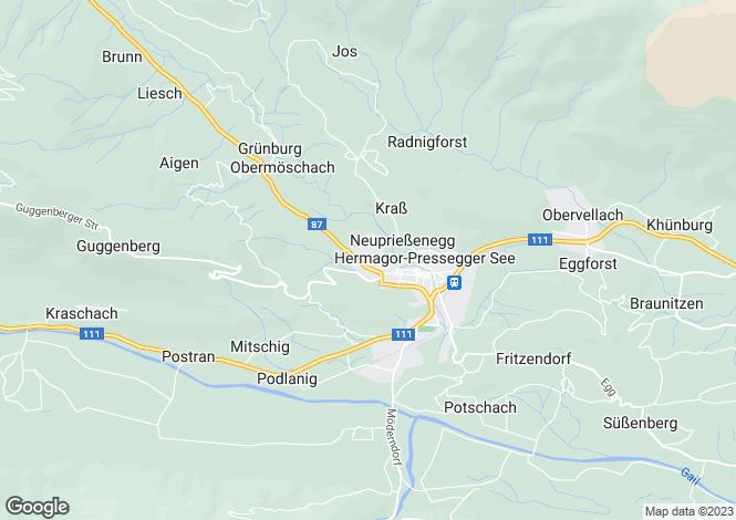 Map for Carinthia, Hermagor, Hermagor