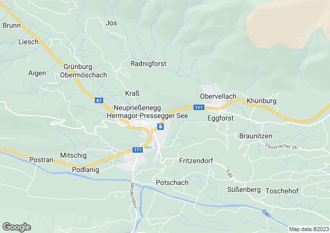 Map for Hermagor, Hermagor, Carinthia