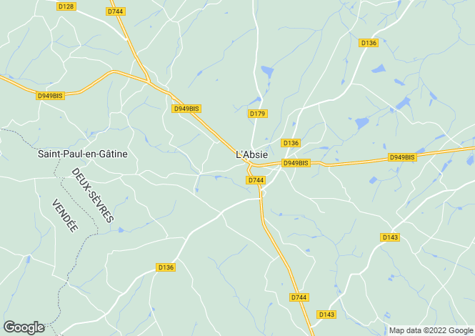 Map for l-absie, Deux-Sèvres, France