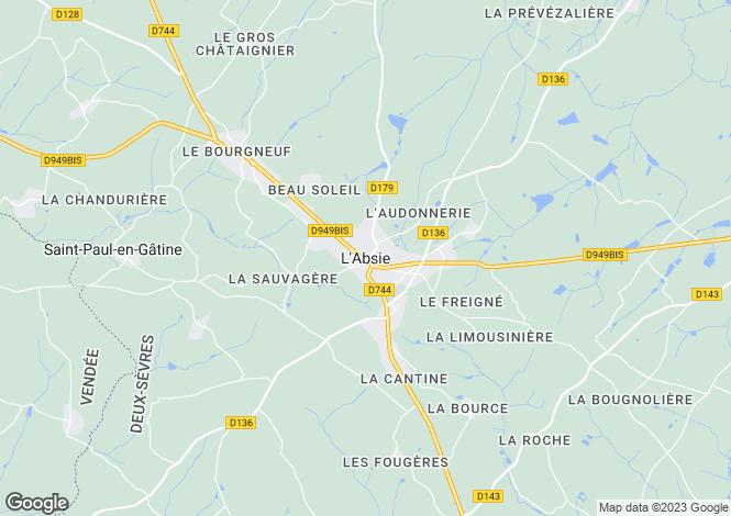 Map for Secteur: Vernoux-en-Gatine, Deux-Sèvres