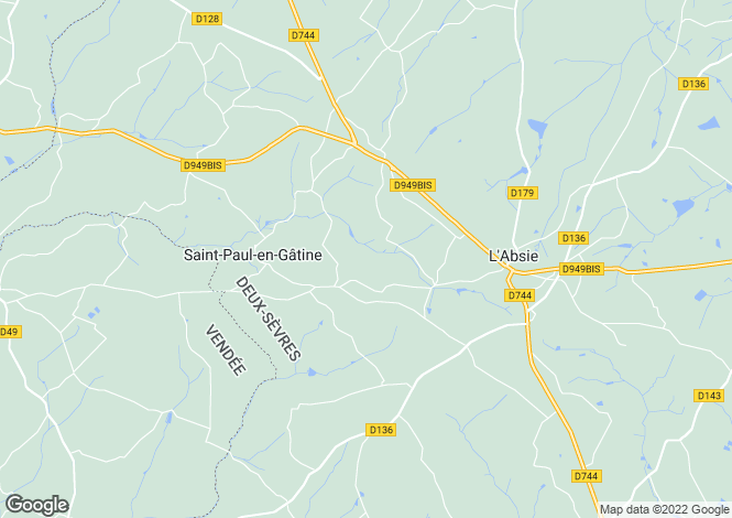 Map for st-paul-en-gatine, Deux-Sèvres, France