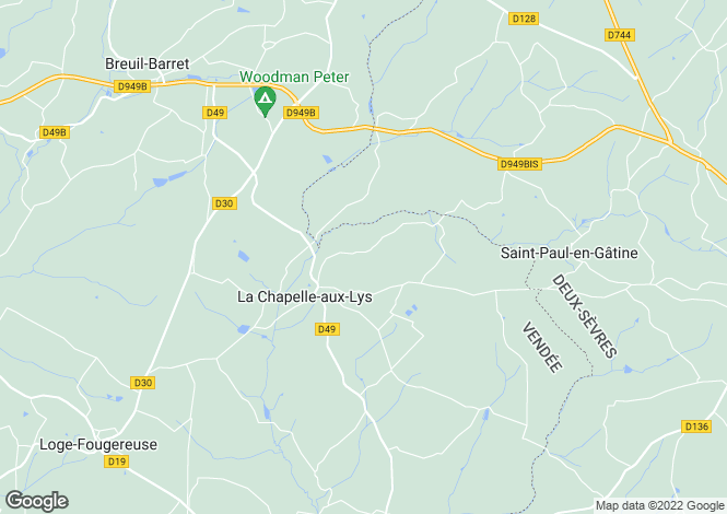 Map for La Chapelle-aux-Lys, Vendée, Pays de la Loire