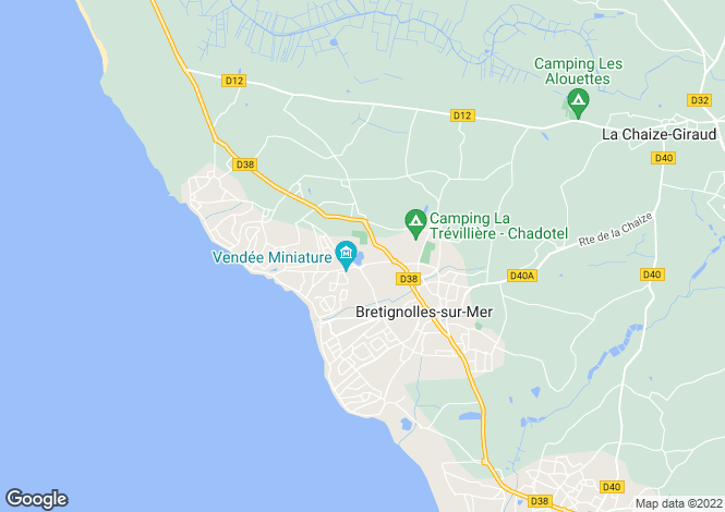 Map for bretignolles-sur-mer, Vendée, France