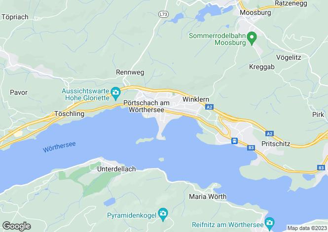 Map for Klagenfurt-Land, Carinthia