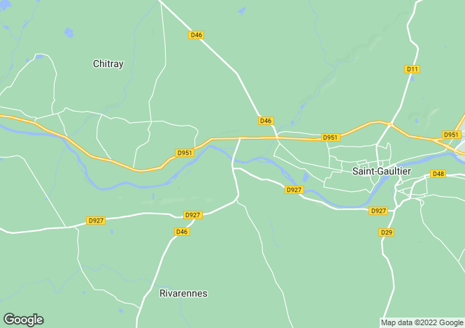 Map for Rivarennes, Indre, Centre