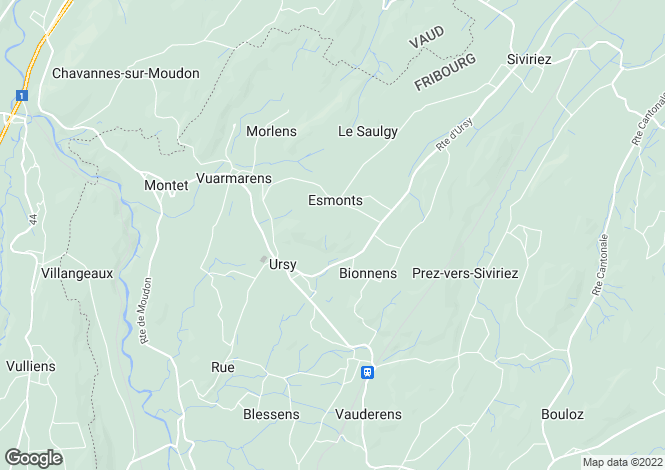 Map for Switzerland - Fribourg
