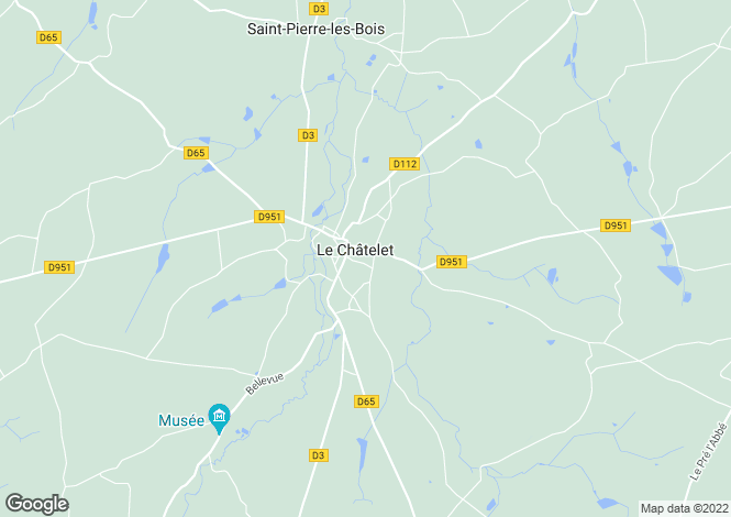Map for le-chatelet, Cher, France