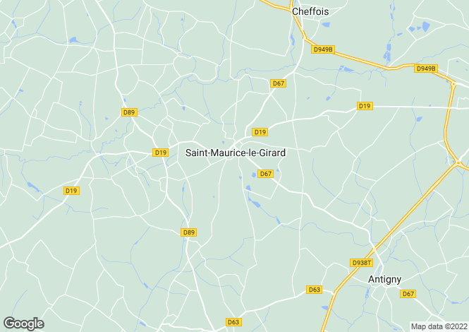 Map for Saint-Maurice-le-Girard, Vendee