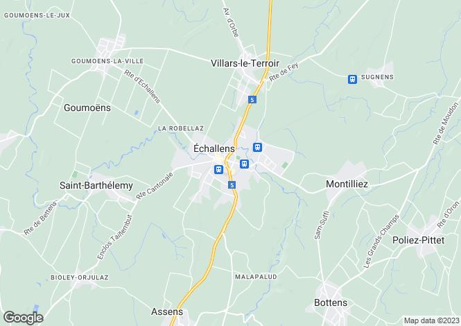 Map for Vaud, Echallens