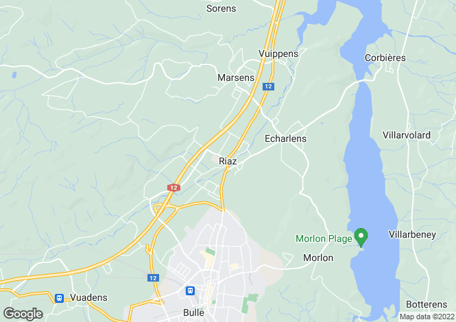 Map for Fribourg, Riaz