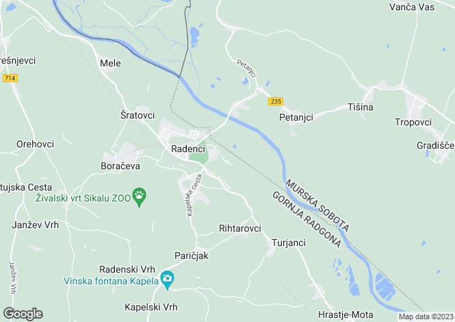 Map for Radenci, Gornja Radgona