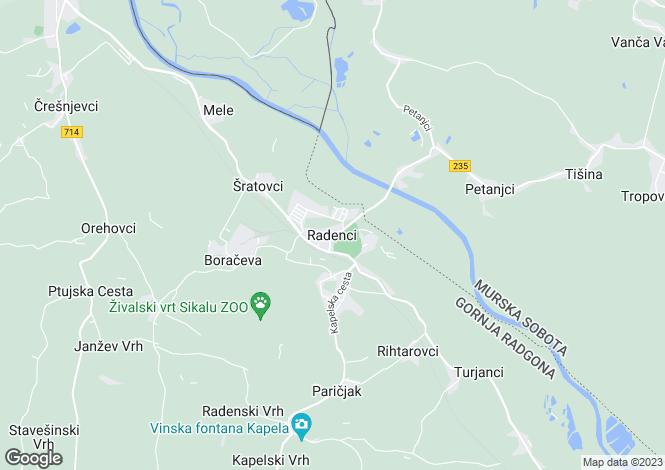 Map for Gornja Radgona, Radenci, Slovenia
