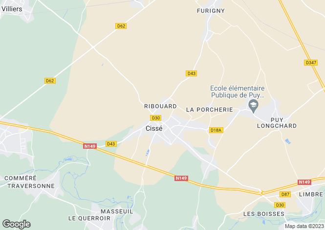 Map for Cissé, Vienne, 86170, France