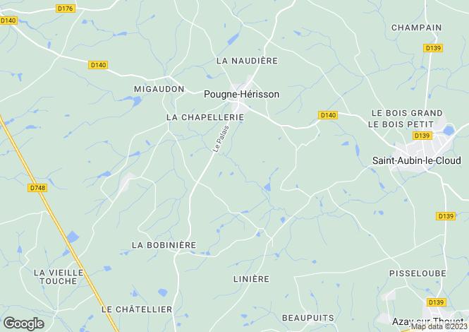 Map for pougne-herisson, Deux-Sèvres, France