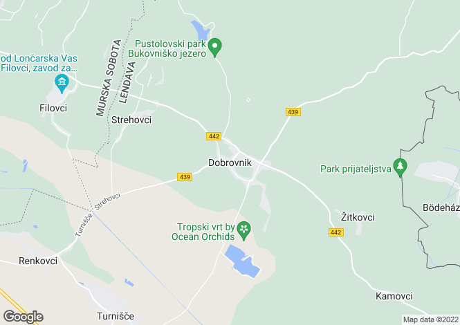 Map for Moravske Toplice, Murska Sobota, Slovenia