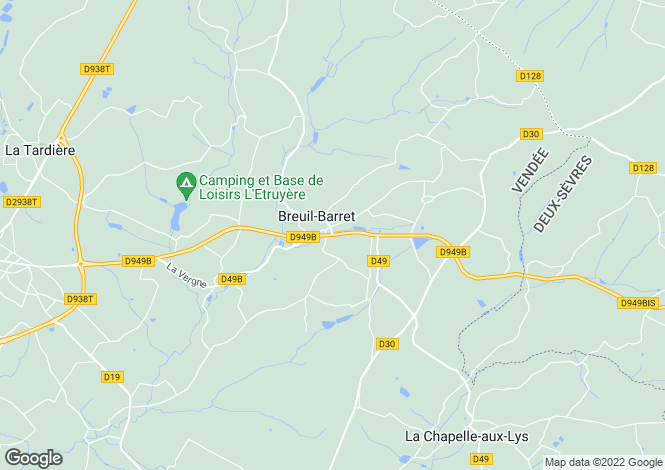 Map for Breuil-Barret, Vendée, Pays de la Loire