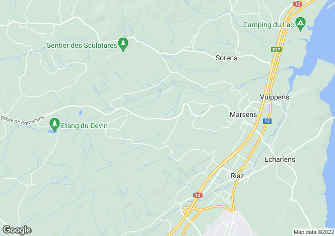 Map for Fribourg