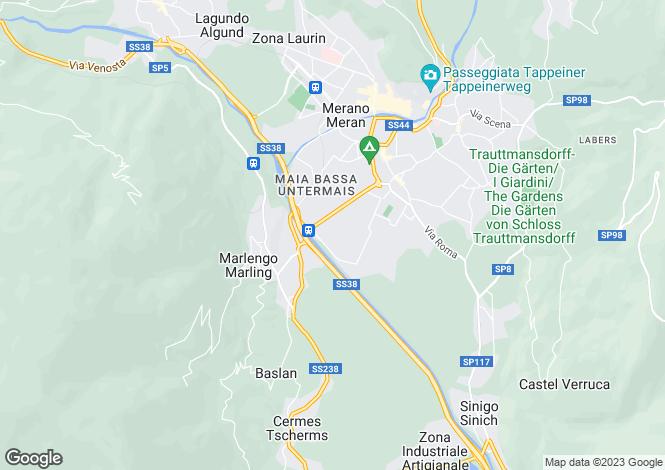Map for Trentino-South Tyrol, Bozen, Marlengo