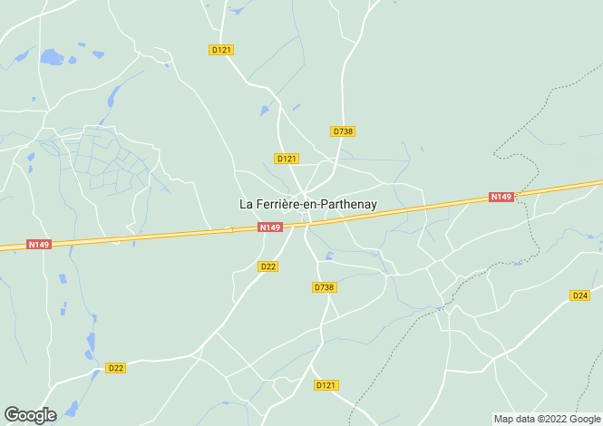 Map for la-ferriere-en-parthenay, Deux-Sèvres, France
