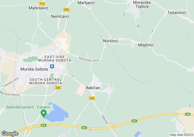 Map for Murska Sobota, Murska Sobota