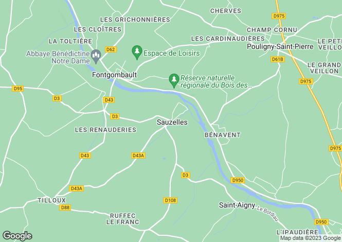 Map for Centre, Indre, Sauzelles