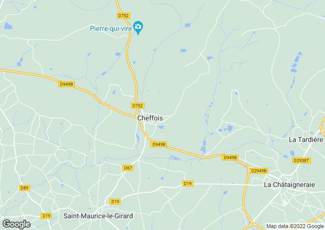 Map for cheffois, Vendée, France