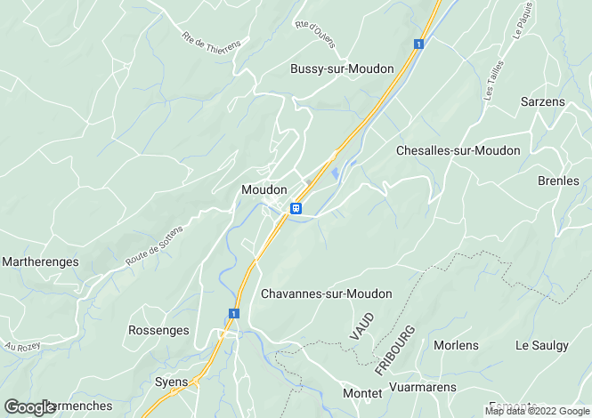 Map for Switzerland - Vaud, Moudon