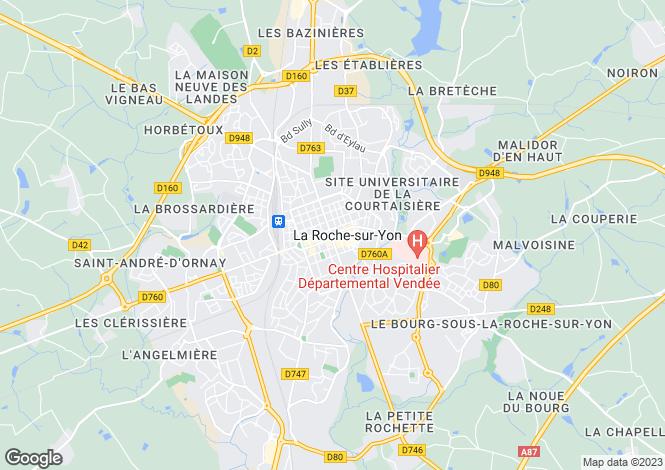 Map for Proche/Near La Roche sur Yon, Vendee